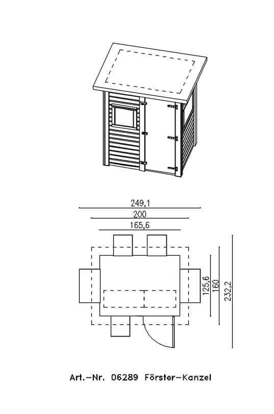 f rster kanzel ohne zubeh r holz raum holzbau f r jagd und hund. Black Bedroom Furniture Sets. Home Design Ideas